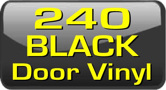 240 Black Door Vinyl Stripes.