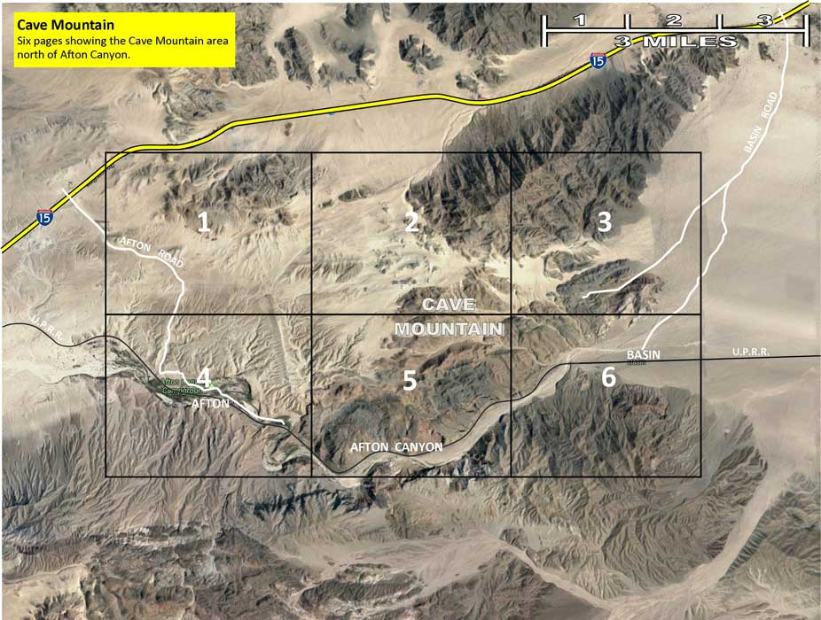 Cave Mountain Region maps. The Mojave Road.