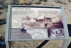 Camp Rock Springs. The Mojave Road.
