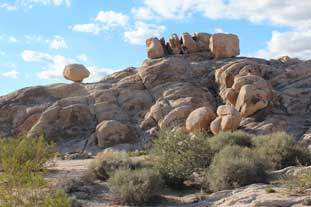 Balancing Rock. The Mojave Road.