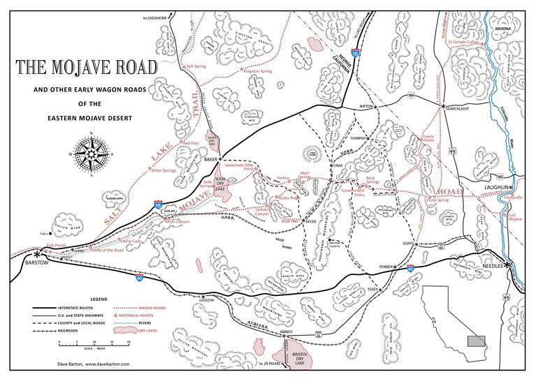 Mojave Road and Other Early Wagon Roads.